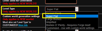 SuperFlat Selection